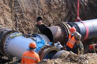Как ведется монтаж водовода, питающего водой Пролетарский округ Тулы. Фото, Фото: 31