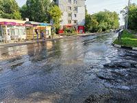 В Пролетарском районе Тулы затопило улицы и дворы: вода хлещет из колодцев, Фото: 4