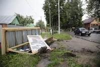 На ул. Циолковского автомобиль снес остановку, Фото: 3