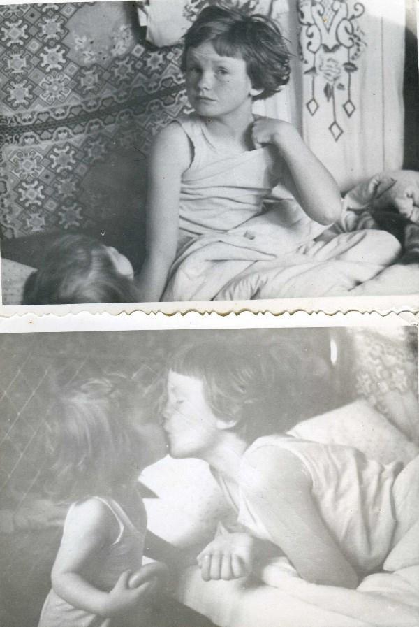 Вот таким добрым было утро моего детства. Сестренка маленькая с утра пораньше целоваться лезла. Деревья были большими, родители и дедушки-бабушки -тоже... 1974 год примерно