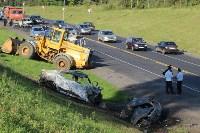 В жутком ДТП на М2 под Тулой сгорели три авто: двое погибли, Фото: 5