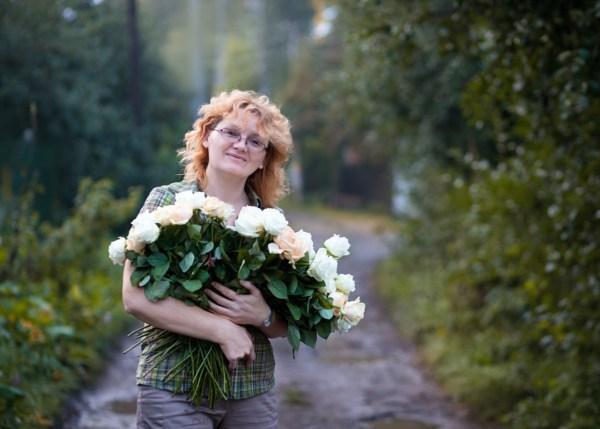 45 роз от дочери  на 45 лет!