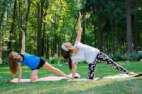 В Центральном парке прошла тренировка по пилатесу, Фото: 9