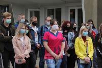 В Туле сотрудники МЧС эвакуировали госпитали госпиталь для больных коронавирусом, Фото: 3