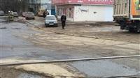 Грузовик «Iveco» с низкой посадкой пробил бак об трамвайные пути. 13 марта 2014, Фото: 5