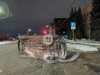 На ул. Болдина в Туле перевернулся Ford, Фото: 5