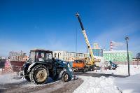 Огромный снеговик на Казанской набережной, Фото: 7