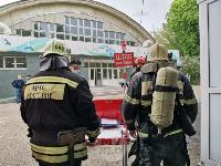 В Туле сотрудники МЧС эвакуировали госпитали госпиталь для больных коронавирусом, Фото: 73
