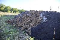 Незаконную свалку на берегу Тулицы спрятали под грудой земли, Фото: 17