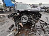 В серьезном ДТП на М-2 в Туле пострадали три человека, Фото: 2