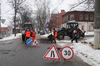 В Туле продолжается аварийно-восстановительный ремонт дорог, Фото: 1