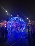 На входе на площадь Ленина установили светящийся шар, Фото: 1