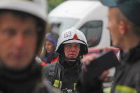 Тульские пожарные провели соревнования по бегу на 22-этаж, Фото: 13