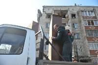 У дома, поврежденного взрывом в Ясногорске, демонтировали опасный угол стены, Фото: 16