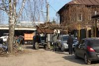 Генеральную уборку в Туле на Пролетарской набережной провели работники КБП, Фото: 21