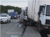 Авария с пассажирской маршруткой из Тулы под Москвой, Фото: 2