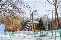 Монтаж колеса обозрения в ЦПКиО. 25 февраля 2014, Фото: 1