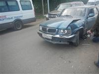 На Новомосковском шоссе столкнулись три автомобиля, Фото: 9