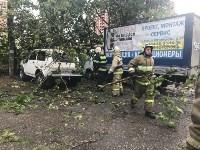 Спасатели ликвидируют последствия непогоды в Туле, Фото: 8