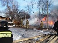 Пожар в Донском днём 29 декабря, Фото: 2