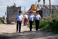 В Плеханово начали сносить дома в цыганском таборе, Фото: 108