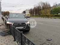 Туляк отвлекся во время движения и насадил Audi Q7 на забор, Фото: 11