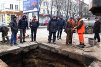 Прорыв водовода на пр. Ленина, Фото: 9