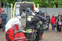В Туле сотрудники МЧС эвакуировали госпитали госпиталь для больных коронавирусом, Фото: 36
