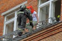 Учения МЧС: В Тульской областной больнице из-за пожара эвакуировали больных и персонал, Фото: 11