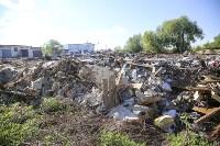 Незаконную свалку на берегу Тулицы спрятали под грудой земли, Фото: 13