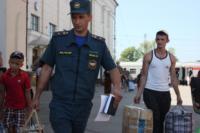 Сотрудники МЧС встретили беженцев на Московском вокзале 28 июля 2014 год, Фото: 2