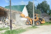 В Плеханово начали сносить дома в цыганском таборе, Фото: 13