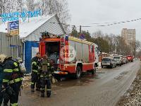 В Туле в переулке Тимирязева загорелся тир «Динамо», Фото: 6