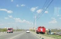 Горит поле напротив ТулСВУ, Фото: 6