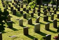 Кладбище. Рядом с каждой могильной плитой - маленький фонарик на солнечной батарее , Фото: 4