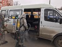 Сотрудники МЧС проводят дезинфекционные работы, Фото: 16