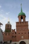 Установка шпиля на колокольню Тульского кремля, Фото: 55
