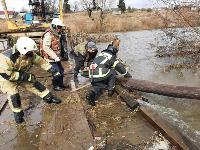 Паводок отступает: транспортное сообщение по мостам в Одоевском и Суворовском районах восстановлено, Фото: 6