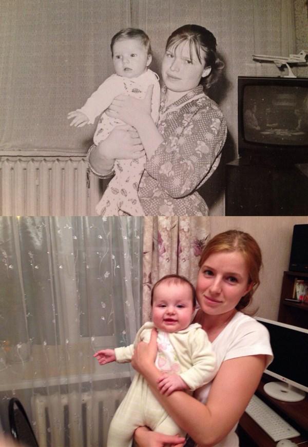 Моя мама, я и моя дочь. 26 лет между снимками. Любовь и нежность, устремленная в будущее.