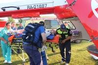 Пострадавшего в ДТП в Веневском районе на вертолете эвакуировали в столичную клинику, Фото: 6