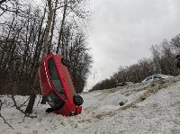 Под Тулой Opel «залез» на дерево, Фото: 4