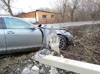 В Туле Mercedes повалил фонарный столб, Фото: 10