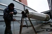 Утром 15 ноября в Тулу привезли шпиль для колокольни Успенского собора, Фото: 7