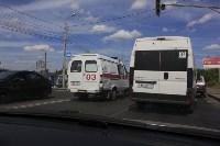 Фото с места аварии на ул. Рязанская в Туле днём 13 июня 2015 года , Фото: 1