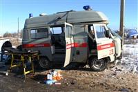 """На трассе М2 автомобиль """"скорой"""" столкнулся с автовозом., Фото: 5"""