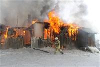 Пожар в жилом бараке, Щекино. 23 января 2014, Фото: 9