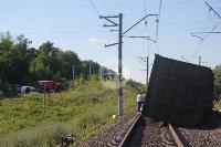 В Тульской области грузовой поезд сошел с рельсов, Фото: 6