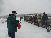 Тульские огнеборцы ликвидировали условное  возгорание в селе Прудное, Фото: 3