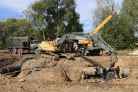 Как ведется монтаж водовода, питающего водой Пролетарский округ Тулы. Фото, Фото: 24