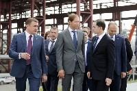 В Туле министр промышленности и торговли РФ  осмотрел  стройплощадку ООО «Тулачермет-Сталь», Фото: 12